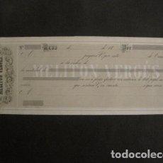 Documentos bancarios: REUS -LETRA DE CAMBIO- MELITON VERGES - SIGLO XIX - -VER FOTOS - (V- 9087). Lote 76329187