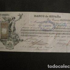 Documentos bancarios: BANCO DE ESPAÑA -LETRA DE CAMBIO- SIGLO XIX - -VER FOTOS - (V- 9093). Lote 76332683