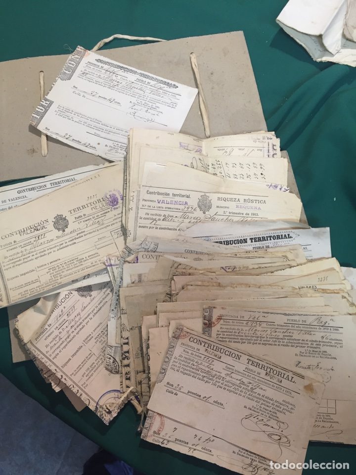 RECIBOS DE CONTRIBUCIÓN (Coleccionismo - Documentos - Documentos Bancarios)
