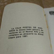 Documentos bancarios: CAJA POSTAL DE AHORROS ALMANAQUE. Lote 77273131