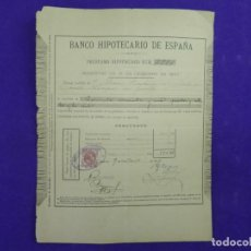 Documentos bancarios: 1897 BANCO HIPOTECARIO ESPAÑA RECIBO D DON MARCOS FERNANDEZ DE CORDOBA Y CASTILLO MARQUES DE GRAÑINA. Lote 81673152