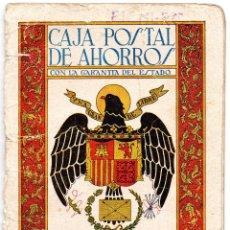 Documentos bancarios: CARTILLA DE AHORRO LIBRETA CORRIENTE CAJA POSTAL DE AHORROS. Lote 81703472