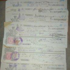Documentos bancarios: 6 LETRAS DE CAMBIO FRANCISCO SEIX FAYA, EDITORIAL BARCELONA A E. SALA MIRA, NOVELDA 1924 HISPANO AME. Lote 81800310