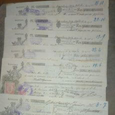 Documentos bancarios: 6 LETRAS DE CAMBIO SEIX EDITORES BARCELONA A NOVELDA. CUÑO CREDIT LYONNNAIS . 1926. Lote 81801310