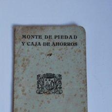Documentos bancarios: LIBRETA MONTE DE PIEDAD Y CAJA DE AHORROS - SANTANDER - 1940. Lote 83039980