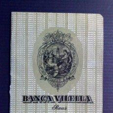 Documentos bancarios: LIBRETA DE AHORRO,AÑO 1966 DEL BANCO VILELLA DE REUS. Lote 84831732
