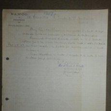 Documentos bancarios: ANTIGUO MANUSCRITO - CON MEMBRETE - BANCO DE FELANITX - AÑO 1918 - FIRMADO EL GERENTE. Lote 84888636