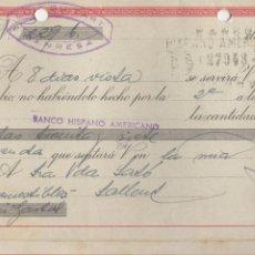 Documentos bancarios: LETRA DE CAMBIO 1957 - MANRESA - LUIS GUITARD. Lote 85075276