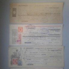 Documentos bancarios: LOTE DE 4 LETRAS / GIROS / PAGARÉS ANTIGUOS. Lote 85150404