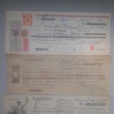 Documentos bancarios: LOTE DE 3 LETRAS / GIROS / PAGARÉS ANTIGUOS. Lote 85151532