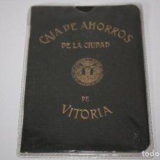 Documentos bancarios: CARTILLA DE CAJA AHORROS DE LA CIUDAD DE VITORIA (1962) . Lote 85569084