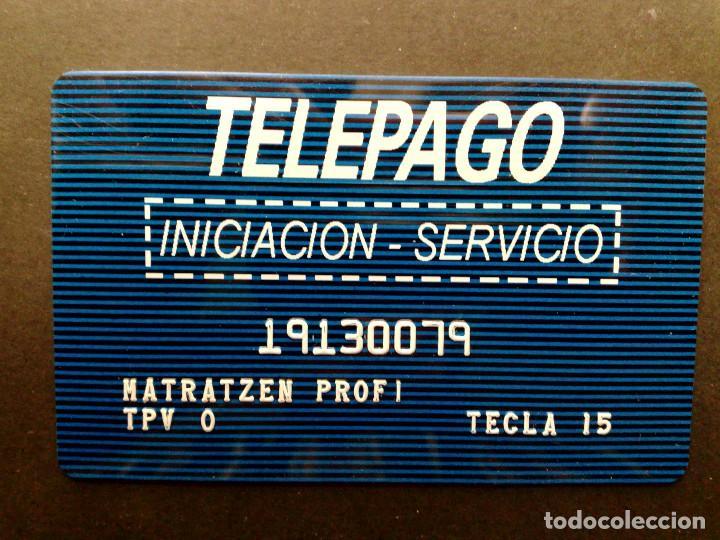 TARJETA BANCO DE CREDITO BALEAR-EMPRESA-INICIACIÓN SERVICIO DE TELEPAGO-VISA-MASTERCARD-4B (Coleccionismo - Documentos - Documentos Bancarios)