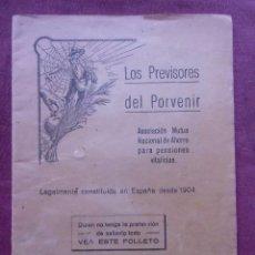 Documentos bancarios: LOS PREVISORES DEL PORVENIR.ENTIDAD DE AHORRO.MADRID,ENERO DE 1932.. Lote 86135788