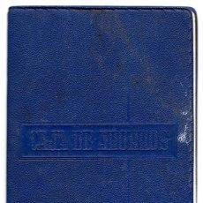 Documentos bancarios: CARTILLA CAJA DE AHORROS BANCO DE BILBAO 1966. Lote 86195840