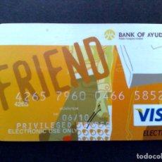 Documentos bancarios: TARJETA BANCARIA VISA-BANK OF AYUDHA-FRIEND PRIVILEGED (DESCRIPCIÓN). Lote 86616772