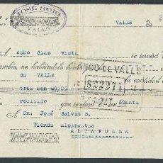 Documentos bancarios: LETRA DE CAMBIO AÑO 1933 JOSE ROIG VALLS CLASE 11 . Lote 87166928