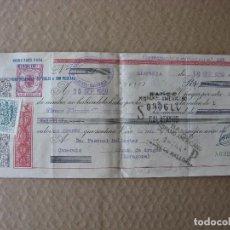 Documentos bancarios: PPRLY - LETRA DE CAMBIO 19 SEPTIEMBRE 1959. BANCO HISPANO AMERICANO. LLOSETA. ALHAMA DE ARAGON. . Lote 87351692