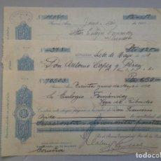 Documentos bancarios: LOTE DE 3 CHEQUES. BANCO ESPAÑOL DEL RIO DE LA PLATA. AÑO 1921.. Lote 87368356