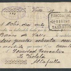 Documentos bancarios: LETRA DE CAMBIO AÑO 1918 DE JOSE MIRO VALLS ANIS CATALUÑA CLASE 15 FIRMADA JOSE MIRO. Lote 36157004