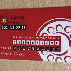 Documentos bancarios: TARJETA BANCARIA - LINEA PASTOR - BANCO PASTOR - VER FOTO ADICIONAL. Lote 88109828
