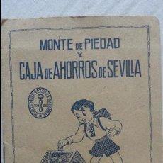 Documentos bancarios: CAJA DE AHORROS.MONTE DE PIEDAD.LIBRETA AHORRO ESCOLAR.PAULINO RASTROLLO.SEVILLA.1959. Lote 90385116