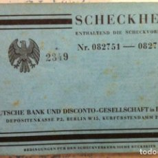 Documentos bancarios: SCHECKHEFT. ENTHALTEND DIE SCHECKVORDRUCKE. DEUTSCHE BANK UND DISCONTO-GESELLSCHAFT IN BERLIN. 1932. Lote 90674935