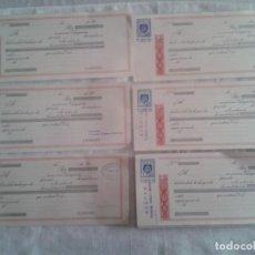 Documentos bancarios: LOTE DE 57 LETRAS DE CAMBIO SIN ESCRIBIR, VER RELACIÓN DE LAS CLASE QUE SON. Lote 90832135
