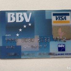 Documentos bancarios: TARJETA VISA BBV AÑOS 90. Lote 91529540