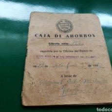 Documentos bancarios: RARA CARTILLA DE AHORROS DEL BANCO POPULAR DE LOS PREVISORES DEL PORVENIR. YECLA MURCIA?). 1942. Lote 92018238