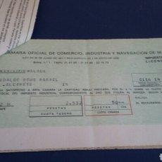 Documentos bancarios: IMPUESTO INDUSTRIAL 13 HOJAS. Lote 92197517