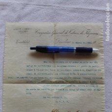 Documentos bancarios: COMPAÑIA GENERAL TABACOS DE FILIPINAS, TABACALERA, BARCELONA 2 MARZO DE 1900. Lote 94174335