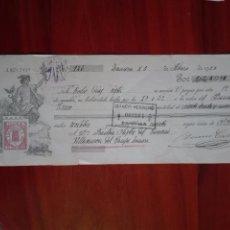 Documentos bancarios: LETRA DE CAMBIO BANCO HERRERO VILLANUEVA DEL CAMPO ZAMORA 1925. Lote 95135727
