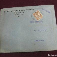 Documentos bancarios: CARTA DEL BANCO CATALAN HIPOTECARIO DE PROPOSICION CONVENIO SUSPENSION DE PAGOS. DIC. 1935.. Lote 95144875