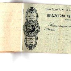 Documentos bancarios: CHEQUERA BANCO HISPANO AMERICANO 1951. Lote 95766771