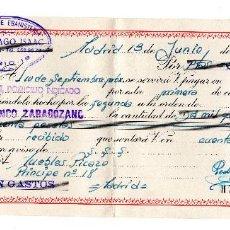 Documentos bancarios: PAGARE BANCO ZARAGOZANO 1964 - TALLERES DE EBANISTERÍA P. SANTIAGO ISAAC. Lote 95812387