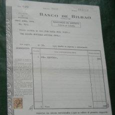 Documentos bancarios: BANCO DE BILBAO - DEPOSITO EN CUSTODIA - 1963 - ACCIONES CROS . Lote 95922751