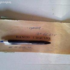 Documentos bancarios: TALONARIO DE CHEQUES BANCO URQUIJO 1963. FORMATO GRANDE. Lote 95980723