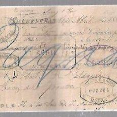 Documentos bancarios: LETRA DE CAMBIO. CIRILO CORNEJO Y ROJO. VALDEPEÑAS. 1885.. Lote 96588335