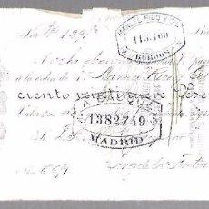 Documentos bancarios: LETRA DE CAMBIO. SCHOMBURG, CABALLERO Y CIA. BILBAO 1892. Lote 96655343