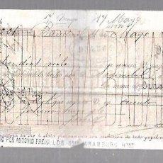Documentos bancarios: LETRA DE CAMBIO. CRISTALERA BADALONESA. 1880. Lote 96655535