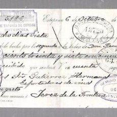 Documentos bancarios: LETRA DE CAMBIO. PEDRO FERNANDEZ. ESTEPONA. 1908. Lote 96655691