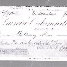 Documentos bancarios: PAGARE. GARCIA-CALAMARTE & CIA. MADRID. 1908. Lote 96656387