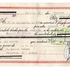 Documentos bancarios: PAGARE AÑO 1965, LETRA DE CAMBIO , BANCO BILBAO , TIMBRE FISCAL. Lote 96708735