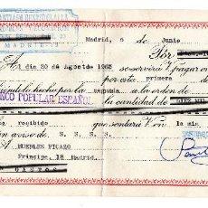 Documentos bancarios: PAGARE 1965, LETRA DE CAMBIO, MUEBLES DECORACIÓN SANTIAGO BENITO, BANCO POPULAR, TIMBRE FISCAL. Lote 96708911