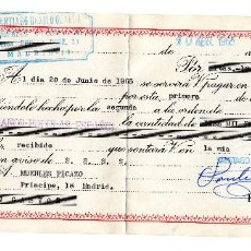 Bank Documents - PAGARE 1965, LETRA DE CAMBIO, MUEBLES DECORACIÓN SANTIAGO BENITO, BANCO POPULAR, TIMBRE FISCAL - 96709011