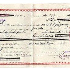 Documentos bancarios: PAGARE 1966, LETRA DE CAMBIO, ZEMITRAN, BANCO SANTANDER, TIMBRE FISCAL. Lote 96709427