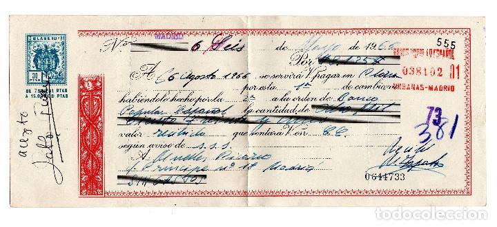 PAGARE 1966, LETRA DE CAMBIO, BANCO POPULAR ESPAÑOL, TIMBRE FISCAL (Coleccionismo - Documentos - Documentos Bancarios)