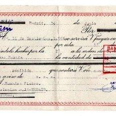 Documentos bancarios: PAGARE 1966, LETRA DE CAMBIO, ZEMITRAN, BANCO SANTANDER, TIMBRE FISCAL. Lote 96709659