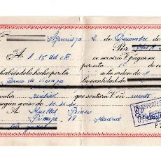Documentos bancarios: PAGARE 1965, LETRA DE CAMBIO, TRANSPORTES ERRASTI, BANCO VIZCAYA, TIMBRE FISCAL. Lote 96709723