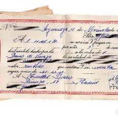 Documentos bancarios: PAGARE 1965, LETRA DE CAMBIO, TRANSPORTES ERRASTI, BANCO VIZCAYA, TIMBRE FISCAL. Lote 96709763